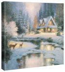 Deer Creek Cottage – 14″ x 14″ Gallery Wrapped Canvas