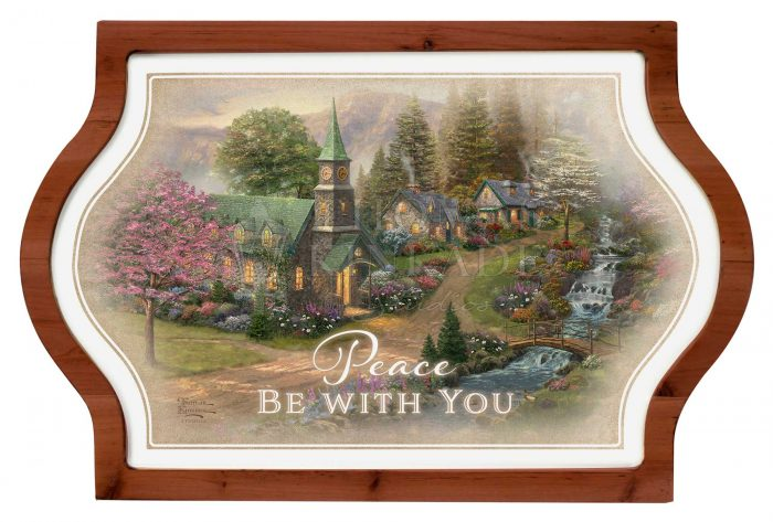 Peace be With You – 12″ x 18″ Framed Vintage Tin Sign
