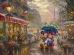 *RARE* Mickey and Minnie in Paris – Limited Edition Canvas, 12″ x 16″, AP, #10