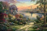 *RARE* New England Harbor – Limited Edition Canvas, 24″ x 36″, EE, #3