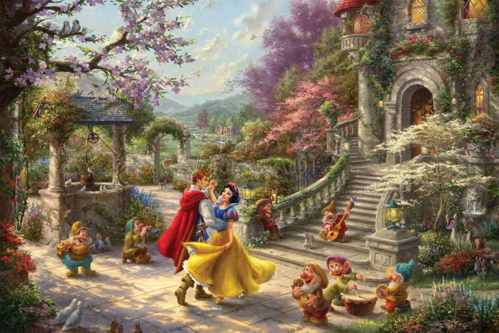 *RARE* Disney Snow White Dancing in the Sunlight – Limited Edition Canvas, 12″ x 18″, AP, #5