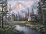 *RARE* Valley Chapel – Limited Edition Canvas, 25.5″ x 34″, PP, #16
