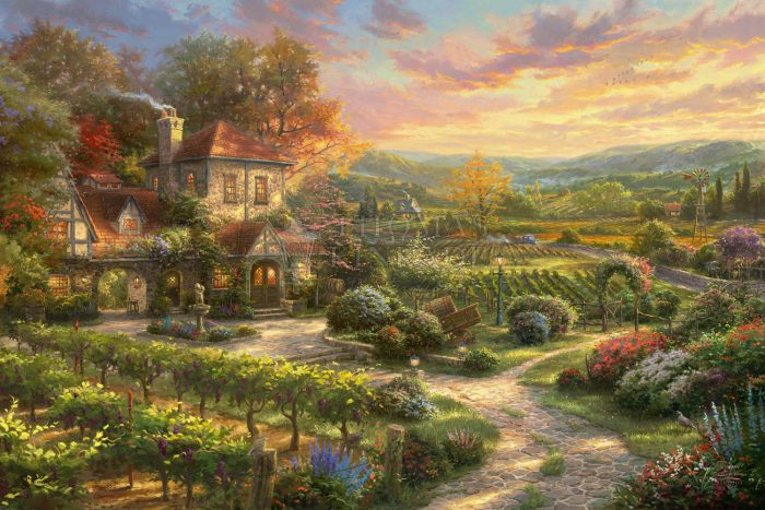 *RARE* Wine Country Living – Limited Edition Canvas, 12″ x 18″, EE, #6