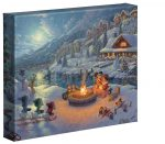 Disney – Mickey and Minnie Christmas Lodge – 8″ x 10″ Gallery Wrapped Canvas