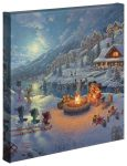 Disney – Mickey and Minnie Christmas Lodge – 14″ x 14″ Gallery Wrapped Canvas