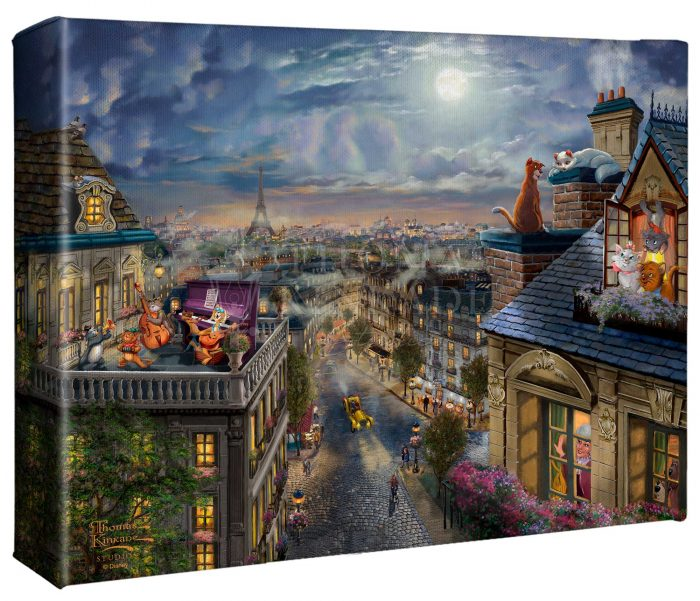 Disney The Aristocats – Love Under the Moon – 8″ x 10″ Canvas Gallery Wrap