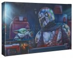 <em>The Mandalorian</em>™ – Two for the road – 10″ x 14″ Gallery Wrapped Canvas