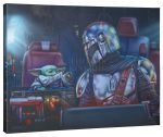 <em>The Mandalorian</em>™ – Two for the road – 24″ x 30″ Gallery Wrapped Canvas