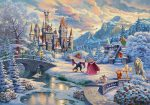 *RARE* Beauty and the Beast's Winter Enchantment – Limited Edition Canvas, 24″x36″, EE, #3