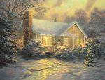 *RARE* Christmas Cottage (Movie Release) – Limited Edition Canvas, 25.5″x34″, GP, #16