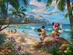 *RARE* Mickey and Minnie in Hawaii – Limited Edition Canvas, 18″x24″, PP, #54