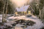 *RARE* Winter Light Cottage – Limited Edition Canvas, 28″x42″, EE, #1